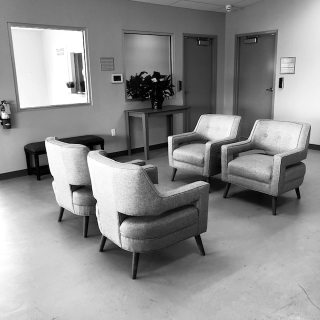 Lobby area chairs